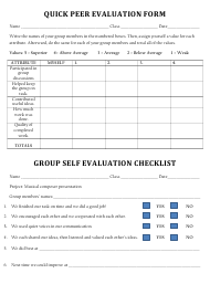 """Quick Peer Evaluation Form"""