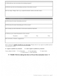 """""""Evaluation Form for Dog Courses - the Better Companion"""", Page 2"""