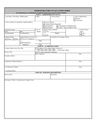 Administrator's Evaluation Form
