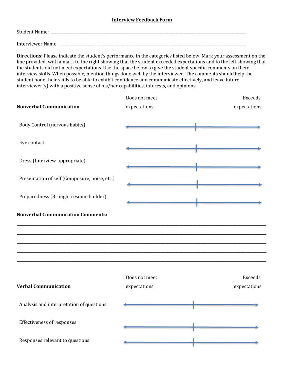 Feedback form html template free