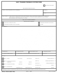 Form 1500/39 Navy Training Feedback System Form