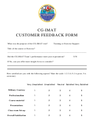 Cg-Imat Customer Feedback Form