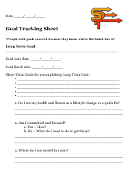 Goal Tracking Sheet Template - Stacey's Personal Training