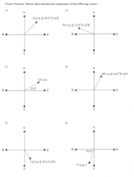 Vector Addition Worksheet With Answers Download Printable Pdf