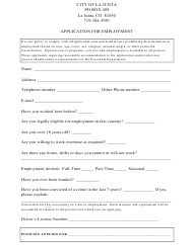 """Employment Application Form"""