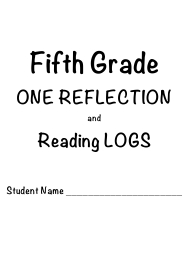 """5th Grade One Reflection and Reading Log Templates"""