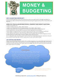 """Monthly Budget Spreadsheet Template - Biola University"""