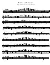"""Senior Flute Scale Sheet"""
