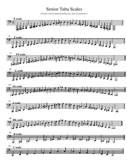 """Senior Tuba Scale Sheet"" Download Pdf"