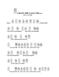 """""""Crazy She Calls Me (Bar) Ukulele Chord Chart"""""""