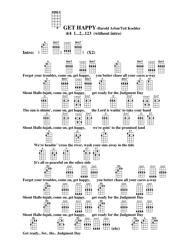 """Harold Arlen/Ted Koehler - Get Happy Ukulele Chord Chart"""