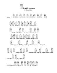Irving Berlin - Lazy Ukulele Chord Chart