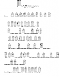 Irving Berlin - Lazy (Bar) Ukulele Chord Chart