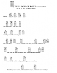 Bacharach/David -the Look of Love Ukulele Chord Chart
