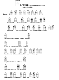 Leo Robin/Richard Whiting - Louise Ukulele Chord Chart