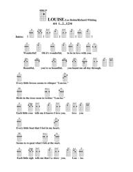 Leo Robin/Richard Whiting - Louise Ukulele Chord Chart