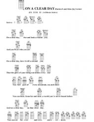 Burton Lane/Alan Jay Lerner - on a Clear Day Ukulele Chord Chart
