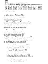 Billie Montgomery/George Perry - the Storybook Ball Ukulele Chord Chart