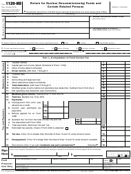 IRS Form 1120-ND Return for Nuclear Decommissioning Funds and Certain Related Persons