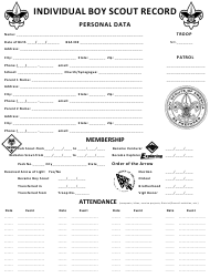 """Individual Boy Scout Record Form"""