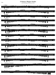 """Tuba 2 Octave Major Scale Sheet"""