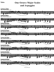 """Tuba One Octave Major Scales and Arpeggios Sheet"""