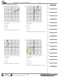 Rotating on a Coordinate Plane Worksheet With Answers