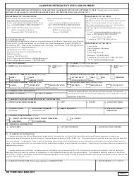 DD Form 2944 Claim for Retroactive Stop Loss Payment, Page 2